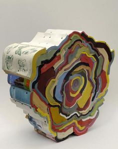 recycled art ideas for teens | Wow, I love this! What a great use for recycled books – some of ...
