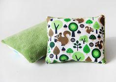 Babydecken - Kuschelkissen in Grün - ein Designerstück von naehfein-berlin bei DaWanda