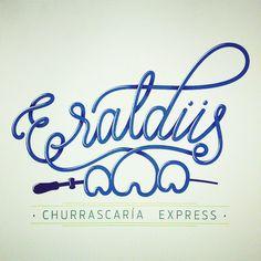 Option for restaurant branding #branding #customletters #handlettering #vectorlettering #typedaily #brazilfood