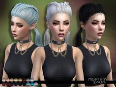 Sims 4 CC's - The Best: LeahLillith Freaky Hair