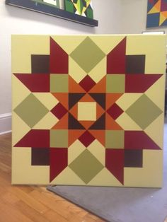 This unique photo is unquestionably a remarkable style procedure. Barn Quilt Designs, Barn Quilt Patterns, Quilting Designs, Star Quilts, Quilt Blocks, Barn Signs, Wood Signs, Painted Barn Quilts, Barn Wood Crafts