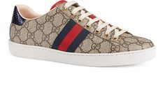 Gucci New Ace Canvas Sneakers | Barneys New York