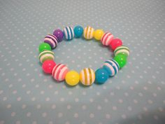 Rainbow Bracelet by MimiandJestine on Etsy, $6.00
