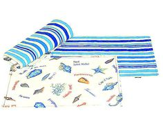 Seashell reversible placemat  Set of 4 placemat 13x18   by SABDECO