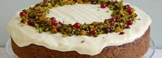 Pistachio and Cranberry Cake Recipe by Three Sisters Bake for Graham's The Family Dairy. #Baking #PistachioCake