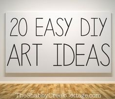 20 ways to make your own wall art! #art #ideas