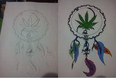 Dream Catcher Tattoo Designs Weed