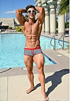 to a fun poolside shoot at last year's Olympia, courtesy of 📷🔥 really looking forward to seeing all the big players in the fitness industry at this year's O.some pool time and clubbing in Vegas will just be the icing on the cake 😎 Flexible Dieting, Hommes Sexy, Shirtless Men, Looking Forward To Seeing, Muscle Men, Olympia, Fitspo, Fitness Models, Trunks