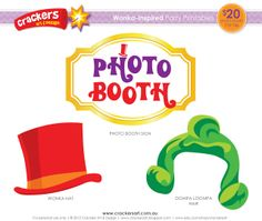 Wonka Party - photo booth props