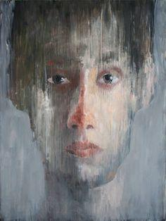 "Saatchi Art Artist Ilir Pojani; Painting, ""Young man 37"" #art"