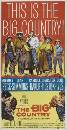 "Horizontes de grandeza ""The Big Country"" (1958). COUNTRY: United States…"