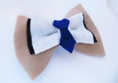 $6.00 Castiel Bow by Geekilicious  #supernatural #cas #castiel Supernatural Crafts, Castiel, Salt, Buy And Sell, Bows, Cosplay, Sewing, Unique, Arches