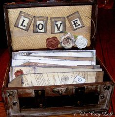 Wedding Guest Book Alternative Wish Box Trunk by thecozyloft