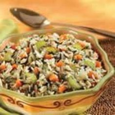 White and Wild Rice Pilaf- I make this and I eat it like there is no tomorrow.