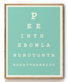 Eye Chart Print | for patients bathroom! @SCEyecare