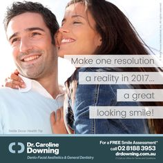 Make one resolution a reality in 2017... a great looking smile! / For a Free Smile Assessment*, please call 02 8188 3953 - www.drdowning.com.au #SmileDocs #SmileDeals #drdowning #carolinedowning #australia #dentalpractice #cosmeticdentistry #dentaljob #dentistryservices #implantdentistry #invisalign #teethwhitening #dentalcare #dentalfiller #dentalcare #cosmetic #dentist #NeutralBay #confidence #dentistryservice #dentist #antiwrinkle #skincare #dermal #lip #fillers #digitalsmiledesign…