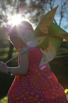 Birthday girl and her pinwheel scepter :)