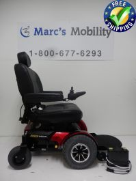 The Quantum 1450 front-wheel drive bariatric power base features innovative design that provides exceptional outdoor performance while delivering outstanding tight space maneuverability. Powered Wheelchair, Types Of Flooring, 1 Month, Innovation Design, Outdoor Power Equipment, Pride, Chairs, Range, Space