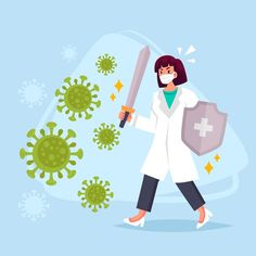 Fight the virus concept Free Vector Drawing For Kids, Art For Kids, Medicine Illustration, Real Superheroes, Drawing Competition, Design Plano, Nurse Art, Acrylic Painting Tips, Sons Birthday