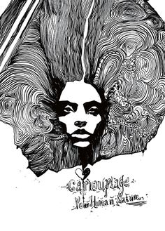 Naja Conrad-Hansen, drawing, black, white, art,
