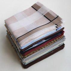 Elke dag een schone zakdoek en zo netjes gestreken in de kast!