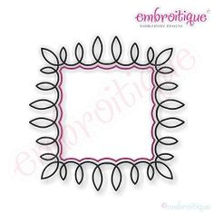 Bennett Font Frame - 6 Sizes! | Font Frames | Machine Embroidery Designs | SWAKembroidery.com Embroitique