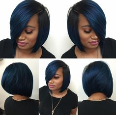 Dope blue bob via @hairbylatise  Read the article here - http://www.blackhairinformation.com/hairstyle-gallery/dope-blue-bob-via-hairbylatise/