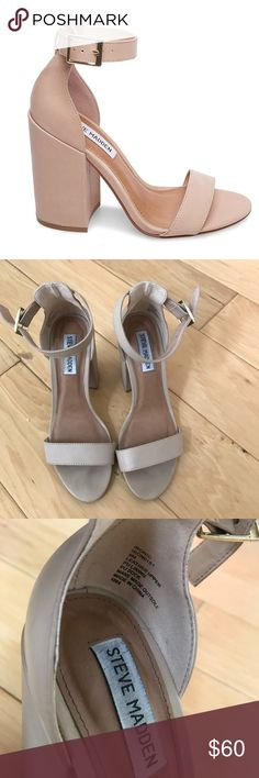 85f51ca416aa43 Steve Madden Ironic heels in Natural Nude. Worn twice - some light dirt  spots but