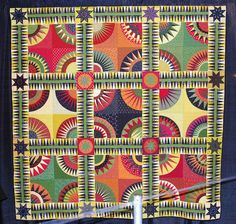 New York Beauty quilt by Patty Mayer 2010 Lakeview Quilters Guild Circle Quilts, Star Quilts, Scrappy Quilts, Quilt Blocks, Antique Quilts, Vintage Quilts, International Quilt Festival, New York Beauty, Quilt Modernen