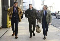 army jacket over dress jacket with jeans and turnups. via Tommy Ton's Street Style: New York Fall Style: GQ Gq Style, Preppy Style, Dope Style, Style Icons, Gentleman Mode, Dapper Gentleman, Gentleman Style, Dope Fashion, Mens Fashion