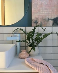 @emma_omeara has created a pastel lover's dream bathroom with a custom Light Blue paint-matched Calibre extended basin Mixer. Delete Comment