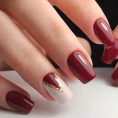 Trendy Nail Art Designs For 2019 - Art des Ongles Trendy Nail Art, Stylish Nails, Classy Nail Art, Short Nails Art, Fall Nail Designs, Christmas Nail Designs Easy Simple, Fall Nail Ideas Gel, Easy Christmas Nails, Nail Ideas For Winter
