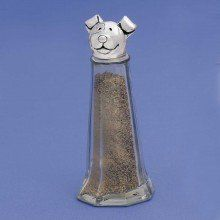 """Handmade Pewter Dog Salt & Pepper Shakers by Basic Spirit by basic spirit. $34.99. Made in Nova Scotia by Basic Spirit. Pewter & glass. Great gift for your dog lover friends. Approximately 4-1/2"""" high. Thihs handmade cat salt & pepper shaker by Basic Spirit makes a great gift. Basic Spirit believes in giving back. They support many charitable organizations in Canada and around the world."""