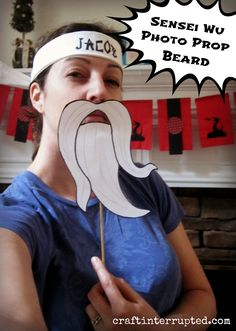 Sensai beard for photobooth! Not sure if we'll actually have a place to set up a photo booth area, but we'll definitely snap some pictures!