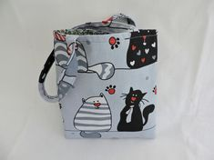 Child's Tote Bag Comical Cats £8.50