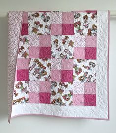 Modern Baby Girl Quilt Besties Forever Designed by Sherri Baldy for Quilting Treasures Pin... $159.99