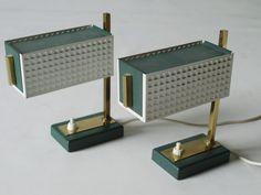 Rare Modernist Bedside Or Desk Lamps Bauhaus Eames Danish Design 60s Era