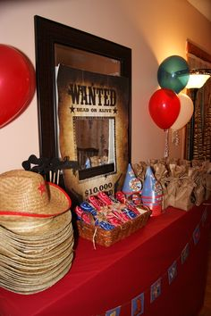 Wanted birthday party | Cowboy themed birthday party, I blew up a 'Wanted' poster and glued it ...