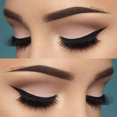 10 Hottest Eye Makeup Looks – Makeup Trends: Natural Smokey Eye with Thick Eyeliner Makeup Goals, Love Makeup, Makeup Inspo, Makeup Inspiration, Beauty Makeup, Perfect Makeup, Gorgeous Makeup, Elegant Makeup, Perfect Eyeliner