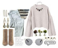 """""""Jill"""" by brie-the-pixie ❤ liked on Polyvore featuring MANGO, 7 For All Mankind, Dinny Hall, Nearly Natural, Christian Dior and Forever 21"""