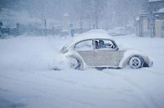 Let it snow... vw beetle