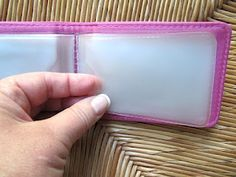 Sew Many Ways: Business Card Organizer.  Use for receipts, sd cards, stamps, gift cards, stickers, and more!