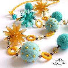 Ježkoidní náhrdelník Moře a pláž - necklace