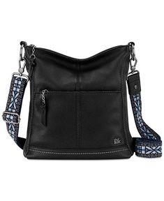 The Sak Black Embroidered-Strap Iris Leather Crossbody Bag Cheap Purses, Cheap Handbags, Cute Purses, Purses And Handbags, Luxury Handbags, Dior Purses, Unique Purses, Cheap Bags, Leather Crossbody Bag