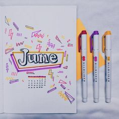 journal ideas for school 36 Pretty June Monthly Cover Page Ideas for Your Bullet Journal Obsession 36 Pretty June Monthly Cover Page Ideen für Ihre Bullet Journal Obsession - Die sparsame Kiwi Bullet Journal 2020, Bullet Journal Aesthetic, Bullet Journal Notebook, Bullet Journal Ideas Pages, Bullet Journal Spread, Bullet Journal Inspo, Bullet Journal Layout, Bullet Journal Month Cover, Filofax