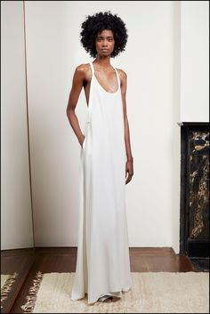 Wedding Dresses for the Fashion Obsessed: Minimalist brides will be smitten with this chic dress by Adam Lippes.