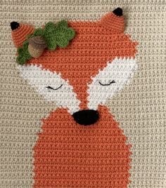 Crochet wall hanging pattern with fox, Nursery fox wall decor tutorial, Diy baby room tapestry Crochet Fox, Love Crochet, Baby Blanket Crochet, Crochet Yarn, Double Crochet, Fox Decor, Wall Decor, Carpets For Kids, Crochet Wall Hangings