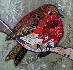 robin5 (SOLD) | Torn Painted Paper Collage - Facebook page: … | Flickr