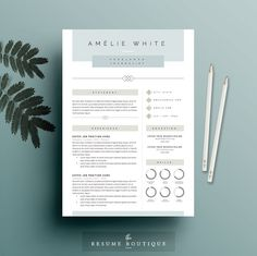 Hervatten van sjabloon 3pk CV-Template door TheResumeBoutique