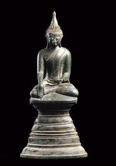 Ava Bronze Buddha in Bhumisparsa Mudra